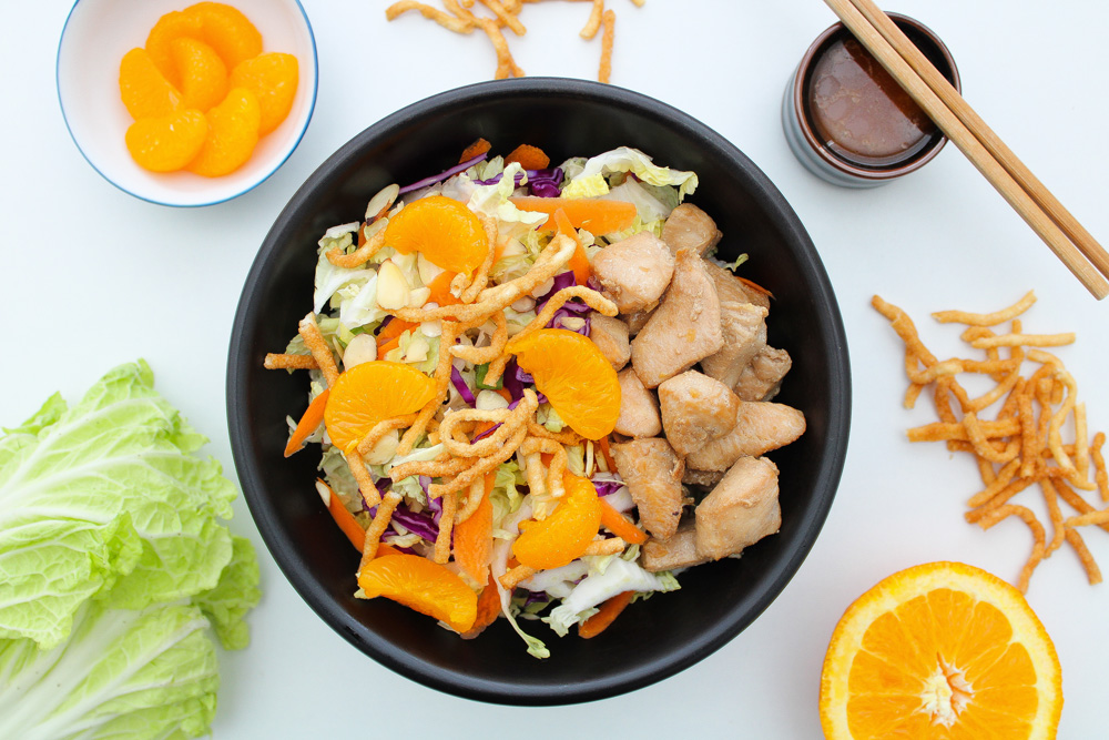 Chinese-Chicken-Salad-Recipe-Header-Image-Bowl-and-Chopsticks