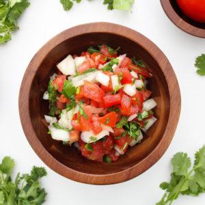 Easy Pico De Gallo Recipe_tomato and onion in bowl