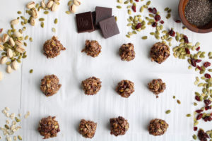 Gloria Duggan from Homemade and Yummy Energy Bites with chia seeds, pistachios, cranberries, and more