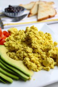 Tofu Scramble on a plate_Vertical