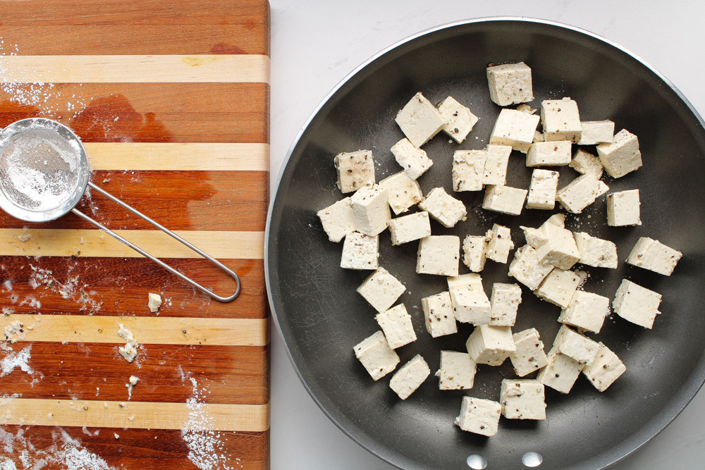How to Cook Tofu for Beginners pan and board