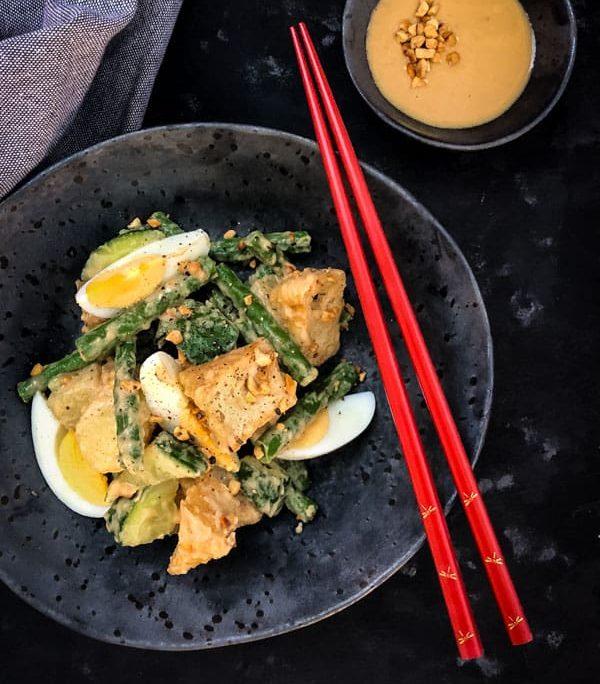 Tofu Puff salad
