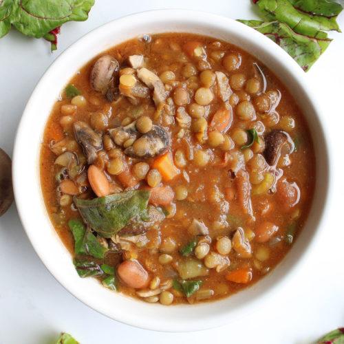 Crock Pot Vegetable Soup in bowl