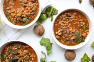 Crock Pot Vegetable Soup multiple bowls